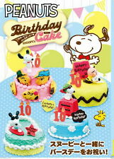 Peanuts Gang Snoopy Re-Ment Miniature Birthday Cake Box / 8 Pieces