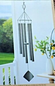 "Hand Tuned Musical  64"" Wind Chimes Powder Coated Oil Rubbed Bronze Finish NIB"