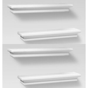 "4pc THRESHOLD Traditional Wall Shelf Set | 15.75"" x 4"" 