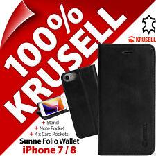 Krusell Sunne Funda De Piel Genuina Base Funda Libro Apple iPhone 7/8