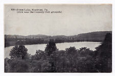 Rare 1907-1915 Jones Lake Montrose Pa View Near the Country Club Grounds Antique