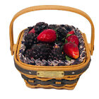 Longaberger Collectors Club JW Miniature Berry Basket Combo 2001 New