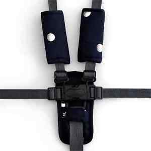 Outlook 3 Piece Harness Cover Set Navy w/ Silve Spots Cotton Baby Comfort Cotton