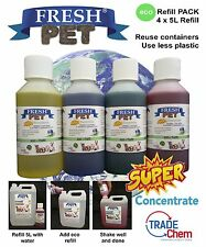4 X 5l Fresh Pet Eco-refill Concentrated Mix & Match Kennel Cleaner Disinfectant