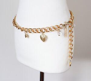 Chain Belt - Vintage - Gilt Metal - Gold Tone - Freesize
