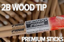 Sonor 2B Wood Tip Drum Sticks By Vic Firth (Brick of 12 Pairs)