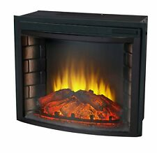 "24"" Curved Electric Fireplace Insert - Firebox with Heater chimney Vent free"