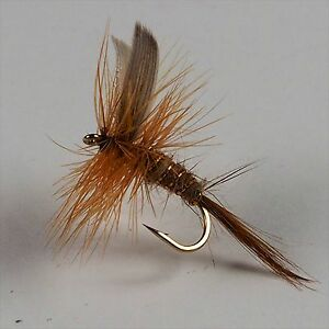 36 Assorted Dry Fly Trout Fishing Flies size 14 by Dragonflies Great Flies