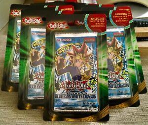 Yugioh Legend of Blue Eyes White Dragon LOB Blister Booster Pack New + 2 RARES🔥