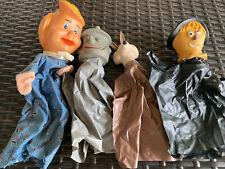 Vintage Mixed Vinyl Hand Puppet Lot~Tin Man~Wilma~Scarecrow~Wily E Coyote