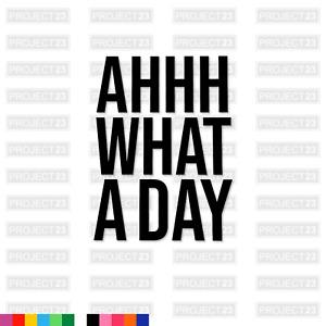AHHH WHAT A DAY Harvey Price Jap JDM Dub Vag Window/Car/Van Decal Sticker 097