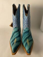 Pastizal Blue Women's Cow Leather Boots. (US 8). (New). (With Tags & Box).
