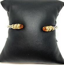 New David Yurman Helena Citrine & Dia 18K Gold & Silver Bracelet- Retail $2650