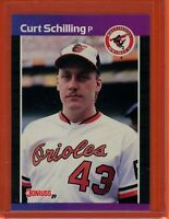1989 Donruss #635 CURT SCHILLING Rookie RC (Orioles) (Diamondbacks) (Red Sox)