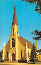 SHERIDAN, WY Wyoming     HOLY NAME CATHOLIC CHURCH     Chrome Postcard