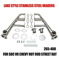 Lake Style Headers For Sbc 265-400 V-8,Chevy,Hot Rod,Street,Rat