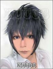 Cosplay wig Final Fantasy 13 Noctis man Anime Blue black short fringe hair wigs