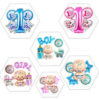 5pcs Baby Shower 1st Birthday Newborn Boy Girl Party Decoration Foil Balloon Set
