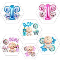 5pcs Baby Shower 1st Birthday Newborn Boy Girl Party Decoration Foil Balloon Set