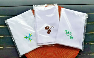 NEW Temp-tations Embroidered Napkin ~ CHOICE of PATTERN