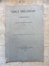 Carlo Grillenzoni commemorazione letta dal prof. Eugenio Casati - 1897