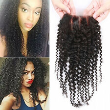 "Hair Parting Top Closure Brazilian Virgin Remy 7A Human Hair Swiss Lace 4""x4"" UK"