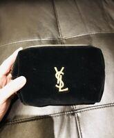 Yves Saint Laurent Black Cosmetics Pouch 🌸😉