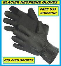 GLACIER GLOVE KENAI Neoprene Gloves Size LARGE #015BK FREE USA SHIPPING