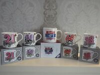 Happy birthday mugs 18th 21st 40th 60th 80th gorgeous gift boxed celebration