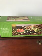 Monterey Collection 3 Stoneware Dipping Bowls With Spoons And Tray