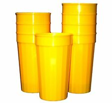 6 Large 32 Ounce Yellow Fluted Tumblers Made in America Lead Free Recyclable