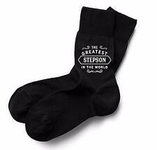 StepSon Socks Birthday Gift Greatest Present Idea Boy Dude Him Men Black Sock
