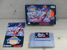 Bill Laimbeer´s Combat Basketball SNES Game Boxed NTSC USA rare Nintendo NOS