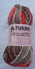 Patons Pirouette Ruffle Scarf Yarn w/Sequins in Harvest Red NWT & No Smoking Hm