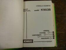 Kobleco K903B Hydraulic Crawler Excavator Shop Service Repair Manual