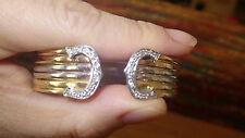 Heavy 18k Designer Tricolor 0.5ct diamond bangle bracelet..22.5g