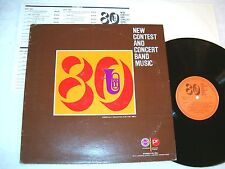 """""""New Contest and Concert Band Music"""" 1980 Jazz LP, Nice EX!,  Marches, etc"""