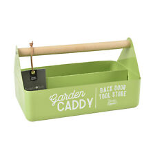 Burgon & Ball - Gooseberry Coloured Garden Caddy with Beech Wood Handle