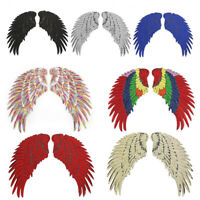 Large Wings Badge Iron on Patch Sequins Appliques Coat Jacket Decorations Crafts