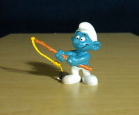 Smurfs Angler Fishing Smurf 20101 Germany Vintage PVC Figure Toy Bully Figurine