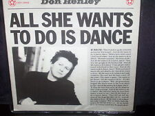 """DON HENLEY ALL SHE WANTS TO DO IS DANCE - AUSTRALIAN 7"""" 45 VINYL RECORD P/S"""