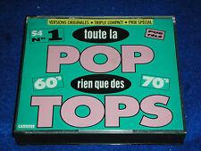 3 CD TRIPLE toute la Pop rien que des TOPS 60-70's CARRERE 54 titres 1960-1970