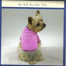Pet Dog Clothes Bling Bling Pink T-Shirt  Size X-Small