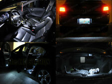 White LED Interior Dome Door Trunk License Plate Lights Kit 2009-2014 TSX 10 pcs