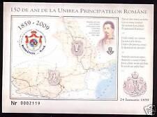 2009 Romania, Unirea Principatelor, MNH, MS, insignia