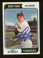 Fred Stanley #423 signed autograph auto 1974 Topps Baseball Trading Card