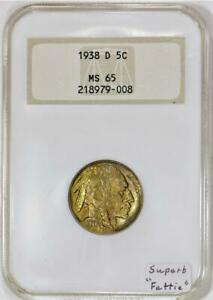 "1938-D Buffalo Nickel NGC MS-65; Superb ""Fattie"""