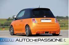Sotto paraurti posteriore Fiat 500 per scarico centrale cinquecento
