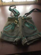 "Childrens Leiderhosen Pants Shorts Leather  20 "" Waist"