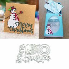Cute Snowman Metal Cutting Dies Stencil Scrapbooking Album Paper Card Craft